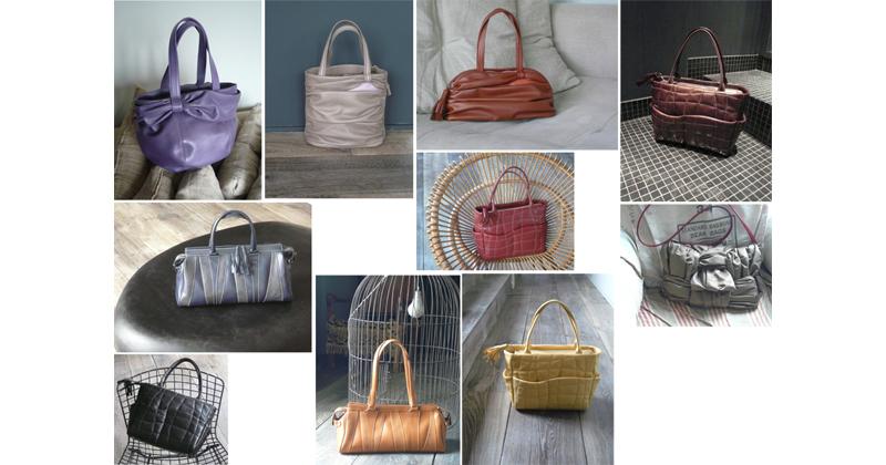 stylisme photo cuir plissé actualisation de modèles sacs