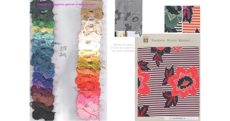 styliste textile jacquard mise au point gamme couleurs idées collection
